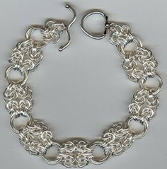 Chain Maille With Beads | byzantine rosette chain maille bracelet