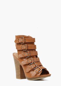 Multi-Buckle Heel.