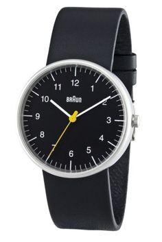 Braun Black Face Black Leather Band Waterproof Classic Men's Analog Wrist Watch #eBayCollection #FollowItFindIt