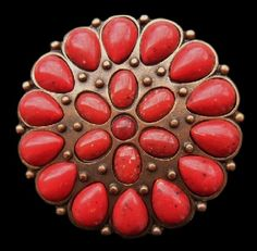 RED PETALS DAISY ROSE BLOOMING FLOWER FLORAL WESTERN BELT BUCKLES