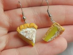 Hey, I found this really awesome Etsy listing at https://www.etsy.com/listing/195551340/lemon-meringue-pie-dangle-earrings
