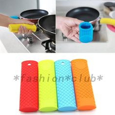 New Silicone Pan Handle Saucepan Holder Sleeve Slip Cover Grip Kitchen Tool
