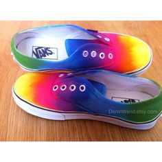 Tie Dye Vans Shoes on Etsy, $65.00