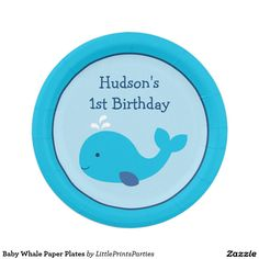Baby Whale Paper Plates