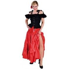 Robe a satin rouge