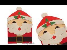 DIY SANTA CLAUS CHRISTMAS CARD - Greeting card - YouTube