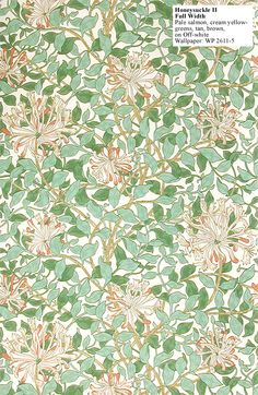 Historic Style - Honeysuckle II by William Morris