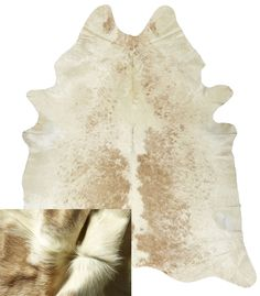 Leather Products - Natural Beige White Sprinkled, Leather Suppliers, Australia, NSW Leather  http://www.leatherco.com.au/product/cow-hide-rugs-cushions/natural-toned-rugs/natural-beige-white-sprinkled/9/11/210