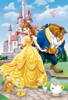 Beauty and the Beast Photo: Belle and Beast Disney Princess Belle, Princesa Disney Bella, Cute Disney, Disney Dream, Baby Disney, Disney Nursery, Disney Images, Disney Pictures, Dragon City