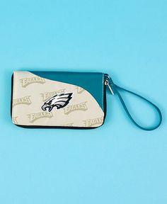 07fc52836ee NFL Philadelphia Eagles Cell Phone Wallet Wristlet Embroidered