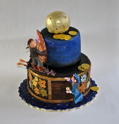 cake by Leapula, via Flickr... a pirates and space ninjas cake???