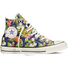 Converse Chuck Taylor All Star Floral Print – inked Sneakers ($65) ❤ liked on Polyvore featuring shoes, sneakers, inked, flower print shoes, converse sneakers, summer sneakers, flower print sneakers and multi colored sneakers