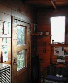 Cedar Creek Tree House-Entrance to Cedar Creek Treehouse as seen from the interior.