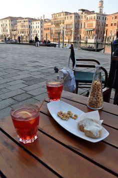 Benvenuti in Italia!: Cocktail hour: Venetian Campari Spritz with club...