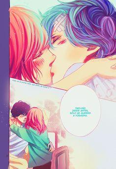 Kiss Futaba y Kou *_* I am so happy ^°^/