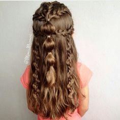Girly hairstyle