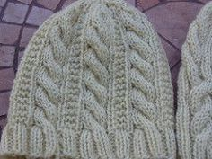 This hat features a 6-stitch cable with a 6 row repeat. It looks great in a variety of yarns and make a quick gift-knitting or I-need-a-hat-now project.