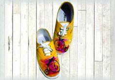 Zapatillas Pintadas A Mano Personalizadas - $ 350,00