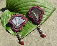 Mexican Silver Fan Dangle Stud Earrings by LisaPierceJewelry, $99.00