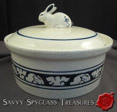 The Potting Shed Dedham Pottery Rabbit Covered Casserole Dish   eBay