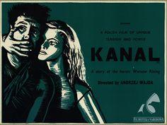 Kanał/Canal - polish war movie, 1956 #movies #posters #WW2 #WarsawUprising #Polish #Poland #1950s