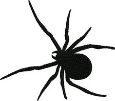 Spider  silhouette Embroidery Design by FRenee2 on Etsy, $3.00