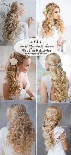 Elstile Half Up Half Down Wedding Hairstyles