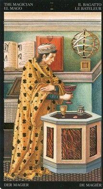 Magician from the Golden Botticelli Tarot