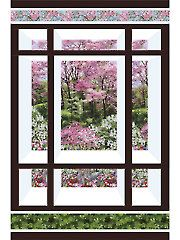 Quilt - Patterns - Pieced Patterns - Seasonal Patterns - Window on the East Quilt Pattern