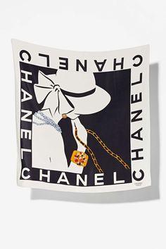 Vintage Chanel Rue de Cambon Lady Silk Scarf