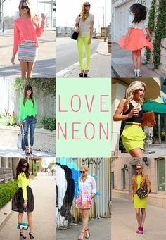#Neon fashion  Spring outfit #fashion #Springoutfit  #nice   www.2dayslook.com