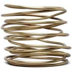 Kelly Wearstler Twisted Bracelet in Brass via Polyvore