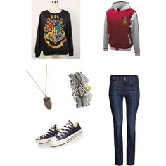 """""""A Day at Hogwarts"""" by pygmypuffy on Polyvore"""