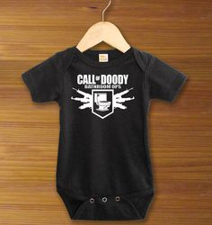 Call of Doody Bathroom Ops Elite Toilet Duty MW3 Black Ops Gamer Funny Saying Baby One Piece Bodysuit