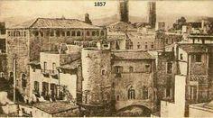 1857. Palau Reial Menor o dels templers als carrers Timó-Milans, Avinyó i Templers-Cervantes. Enderrocat al 1866