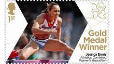 Gold Medal Winner stamp #12 - Athletics: Combined Women's Heptahalon, Jessica Ennis.