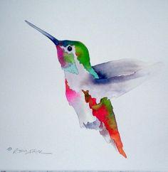 hummingbirds! fabulous watercolor