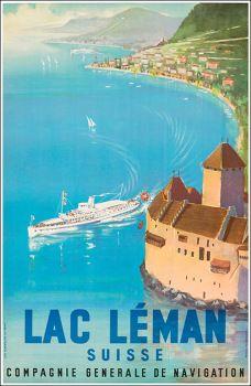 Lac Léman. Suisse. Compagnie Générale de Navigation.