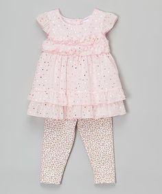Pink Ruffle Tunic & Leopard Leggings - Infant