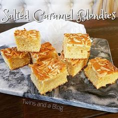 *NEW RECIPE* Salted Caramel Blondies A salted caramel white chocolate paler version of brownies 😍😍 http://twinsandablog.com.au/salted-caramel-blondies/ #twinsandablog #thermomix #thermomixaus #thermomixau #thermomixaustralia #blondies #whitechocolate #saltedcaramel #saltedcaramelblondies #slice #brownies #almondw #sweet #treat #recipe #sydneyfoodblog #blog #blogger #mumblogger  #foodblog #recipe #recipeblog  #food #yum
