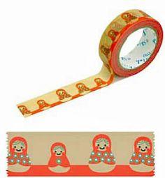 Shinzi Katoh Masking Tape  Matryoshka Dolls by craftyjapan