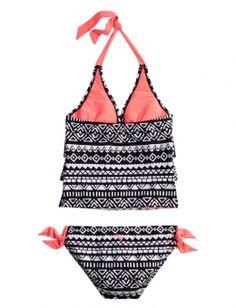 Tribal Tankini Swimsuit | Girls Half Size Swim Features | Shop Justice
