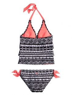 Tribal Tankini Swimsuit | Girls Half Size Swim Features | Shop Justice