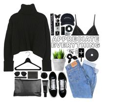 """""""Untitled #15"""" by rach-tulla ❤ liked on Polyvore featuring Arlington Milne, Levi's, Burberry, Vans, Make, Clips, TravelSmith, Michael Kors, NARS Cosmetics and T3"""