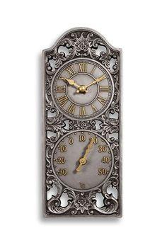 Find Gardman Terracotta Garden Clock And Thermometer At