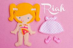 Felt Doll Riah Doll Non Paper Doll Doll with by ChameleonGirls, $15.00