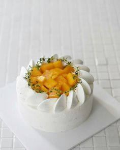 Sweets Recipes, Cake Recipes, Cupcakes, Cupcake Cakes, Asian Cake, Mango Cake, Gourmet Cakes, Dessert Decoration, Cafe Food