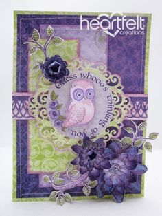 Heartfelt Creations | Purple Owl Thinking Of You