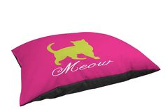 Thumbprintz Indoor/Outdoor Small Breed Pet Bed, Meow, Pink * See this great image  : dog beds