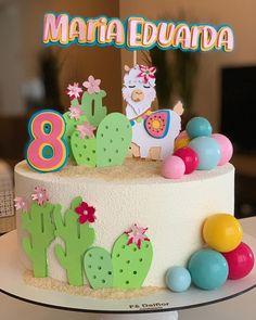 Llama Birthday, Baby Girl 1st Birthday, 3rd Birthday, Birthday Parties, Fondant Figures, Alpacas, Cactus Cake, Baby Girl Cakes, Gateaux Cake